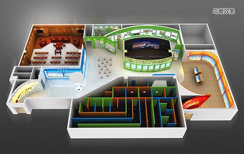 青少年法制展厅设计效果图